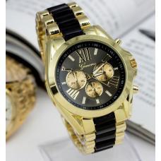 Женские кварцевые часы золото