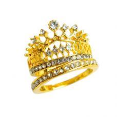 Элегантное золотое кольцо корона