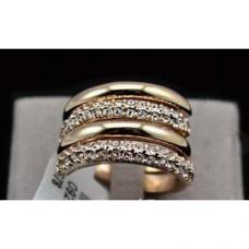 Женское кольцо позолота
