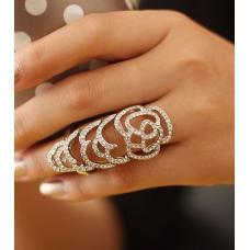Женское двойное кольцо