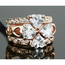 Женское кольцо Клевер