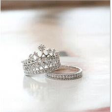 Элегантное кольцо корона (серебряное кольцо)