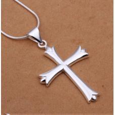 Крестик посеребряный 925